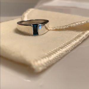 James Avery Blue Topaz Ring